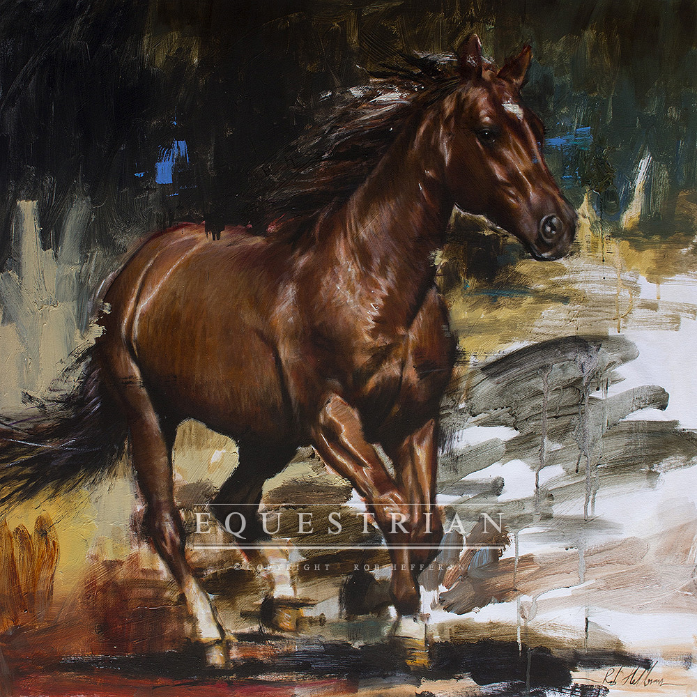 horse,painting,rob hefferan