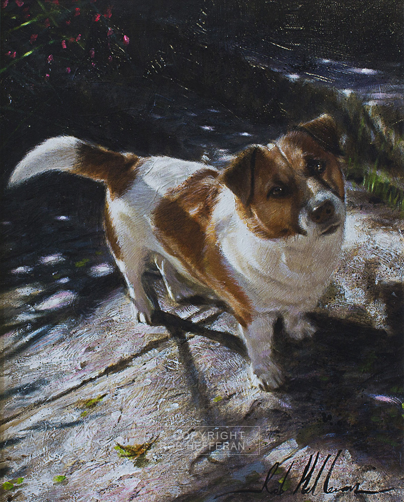 rob hefferan,portrait,painting,dog